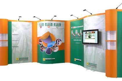 deelnemen aan een beurs, Press stand ABC Display