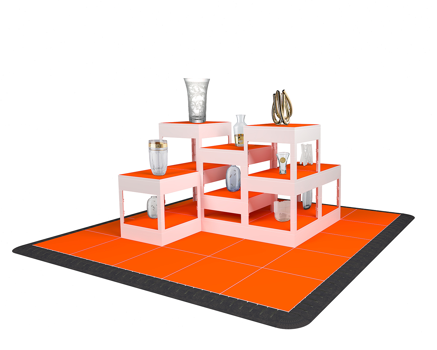 Display Kubussen Stand-On